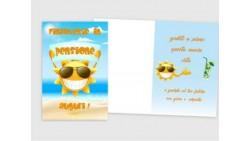 Biglietto di auguri PENSIONE - biglietto augurale completo di busta