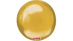 BUBBLES palloncino ORBZ ORO 16/40cm - pallone sfera - fornito sgonfio