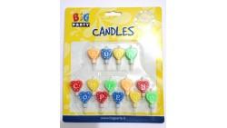 Candele Scritta BUON COMPLEANNO - a cuore  - candeline per torte e dolci
