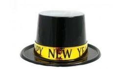 Cappello Cilindo in plastica HAPPY NEW YEAR gadget festa CAPODANNO