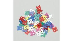 Confetti - Coriandoli da tavola sagomati 18 Anni Multicolor
