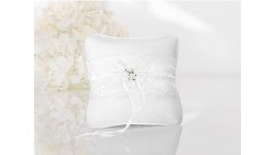Cuscino porta anelli bianco 16 x 16 cm