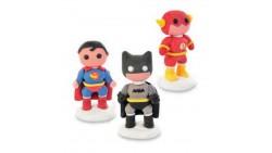 Decorazione in zucchero Super EROI 3D - SuperMan Flash Batman per torta e dolci