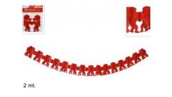 Festone angioletti cupido cuore rosso - Girlanda addobbo decorativo san Valentino anniversario
