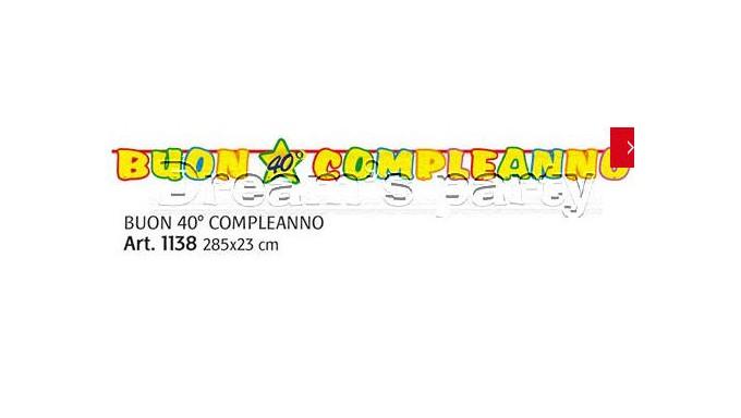 FESTONE 40 ANNI 300X23CM