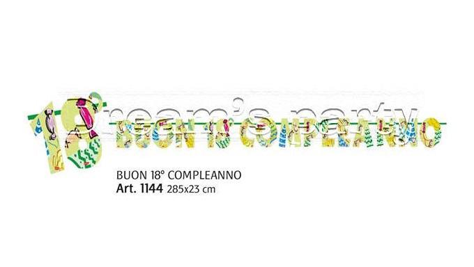 FESTONE BUON 18 ° COMPLEANNO CARAMELLE 300X23 CM