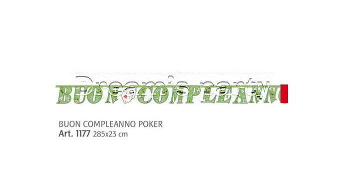 FESTONE BUON COMPLEANNO POKER 330X23 CM