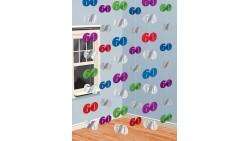 Festone pendenti con numeri 60 colorati - 6 fili da 2mt - compleanno 60 anni