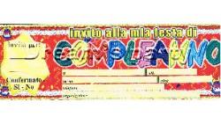 INVITO BUON COMPLEANNO TORTA PZ 20 22,5X7CM