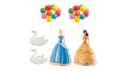 Kit PRINCIPESSE disney - Cenerentola e Belle topper decorazione per TORTA DOLCI