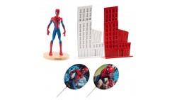 Kit SPIDER MAN - Uomo Ragno topper decorazione per TORTA DOLCI