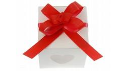 Mini COCCARDA nastrino Rosso per confezionamento pacco regalo - Bottiglia