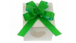 Mini COCCARDA nastrino VERDE per confezionamento pacco regalo - Bottiglia
