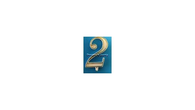 NUMERIN0 2 PLASTICA FILO ORO H. 4,5 CM