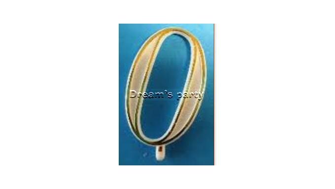 NUMERINO 0 PLASTICA FILO ORO H. 4,5 CM