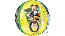 Palloncino BUBBLES TOPOLINO Mickey Mouse disney - Pallone ORBZ tondo 40cm