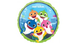 Palloncino foil mylar Squali  Baby Shark - 43 cm - gonfiabile ad elio