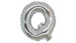 PALLONCINO Pallone LETTERA Q ARGENTO in MYLAR foil 21cm