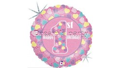 PALLONE MYLAR 1° COMPLEANNO 45 CM