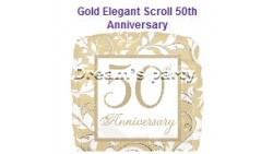 PALLONE MYLAR 18 GOLD ELEGANT 50 ANNIVERSARIO