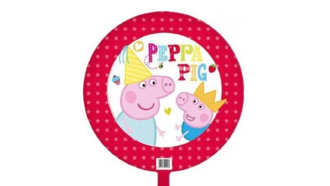 PALLONE PEPPA PIG FONDO ROSSO 18 POLLICI