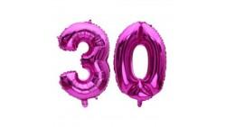 Pallone numero 30 Trenta - FUXIA in MYLAR foil - PALLONCINO numerale 41cm