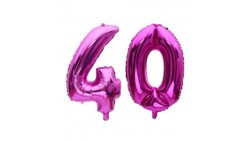 Pallone numero 40 Quaranta - FUXIA in MYLAR foil - PALLONCINO numerale 41cm
