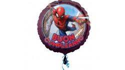 Pallone PALLONCINO in foil MYLAR SPIDERMAN buon compleanno 38X35 cm
