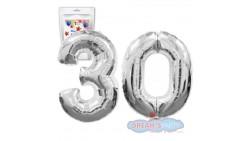 Pallone PALLONCINO numero 30 TRENTA numerale in MYLAR foil 100cm