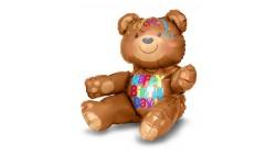 Pallone PALLONCINO orso ORSETTO Happy Birthday - per compleanni, feste e party