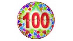 PIATTO 100 ANNI STARDUS 10 PZ D.18CM