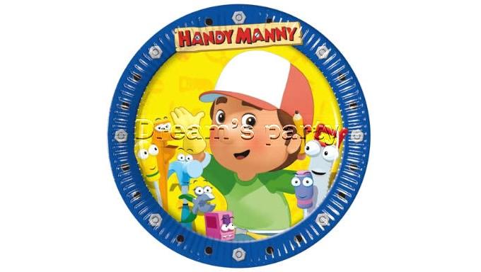 PIATTO HANDY MANNY D. 19,5CM PZ 10