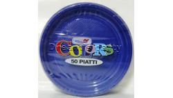 PIATTO PLASTICA BLU D. 17CM. PZ 50