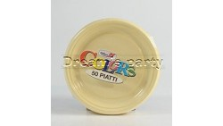 PIATTO PLASTICA CREMA D. 17CM PZ 50