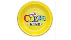 PIATTO PLASTICA PIANO GIALLO PZ 30 CM 22