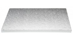 Piatto SottoTorta rigido vassoio RETTANGOLARE - CAKE BOARD Argentato 40 x 60cm