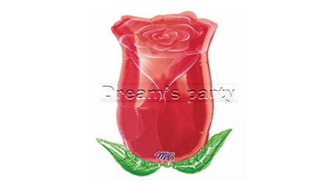 PPALLONE MYLAR ROSA ROSSA 45 CM