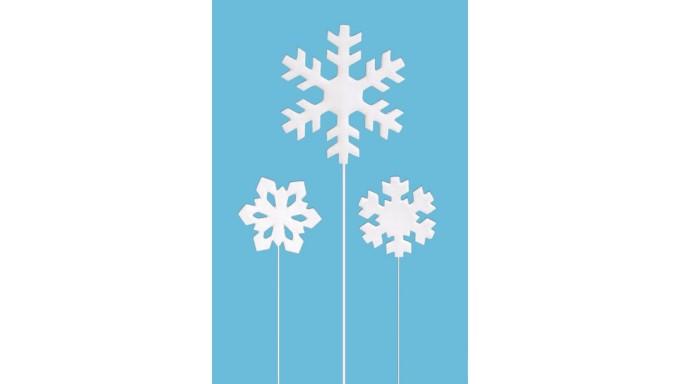 RAMI Cristalli di ghiaccio in zucchero - Frozen - 3 pz - decorazione torte o dolci