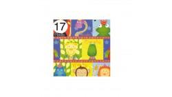 Rotolo Carta da confezione REGALO ANIMALI PATCH compleanno - 2 Fogli da 70x100cm