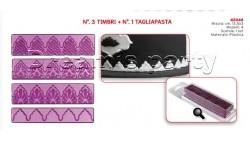SET 3 TIMBRI + 1 TAGLIAPASTA 13,5X3 CM