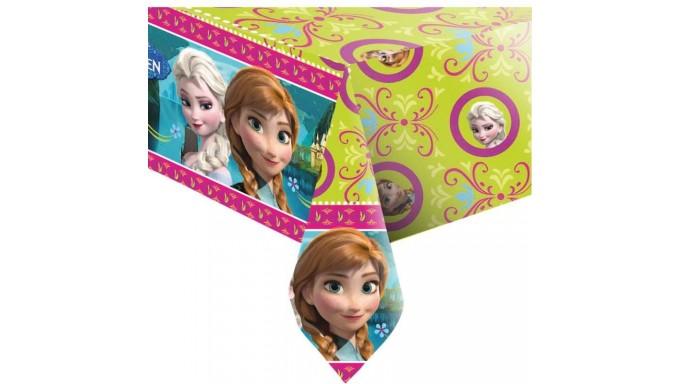 Tovaglia FROZEN decoro Tavolo - in plastica monouso 120 x 180cm - con Elsa e Anna