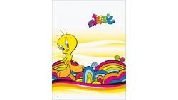 Tovaglia piegata TWEETY Cutie Pop  in carta 120x180cm - compleanno festa bambini