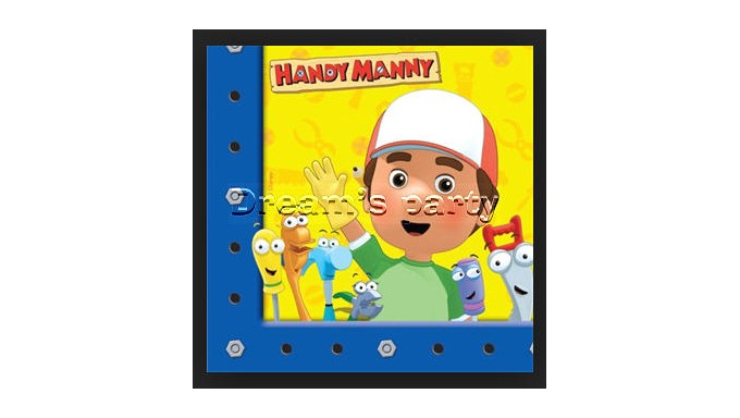 TOVAGLIOLO HANDY MANNY PZ 20 33X33CM 2 VELI