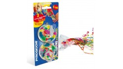 2 Kabuki Multicolor sparacoriandoli per bambini lancia Stelle Filanti a mano
