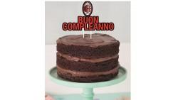 Cake Toppe AC MILAN Buon Compleanno - decorazione per torte dolci capodanno