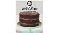 Cake Toppe FC INTER Buon Compleanno - decorazione per torte dolci capodanno