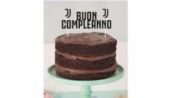 Cake Toppe FC JUVENTUS Buon Compleanno - decorazione per torte dolci capodanno