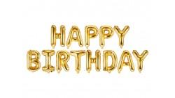 FESTONE Palloncini ORO scritta HAPPY BIRTHDAYR buon compleanno - 340x35cm