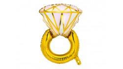 PALLONCINO in foil Mylar a forma di Anello Nuziale di FIDANZAMENTO 40x53cm