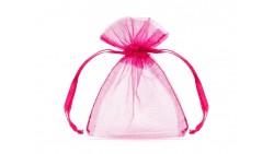 20 Sacchetti FUCSIA fuxia - tulle in organza per confetti confettate - 7,5x10cm